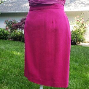 Beautiful 1980s hot pink pencil skirt